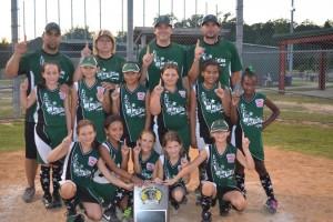 Evangeline Little League Girls Softball Champions